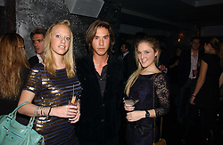 Left to right, ANNABELLE RITCHIE, EDWARD TANG and GEORGINA HONOUR at a party to celebrate the opening of Kitts nightclub, 7-12 Sloane Square, London on 7th December 2006.<br /><br />NON EXCLUSIVE - WORLD RIGHTS