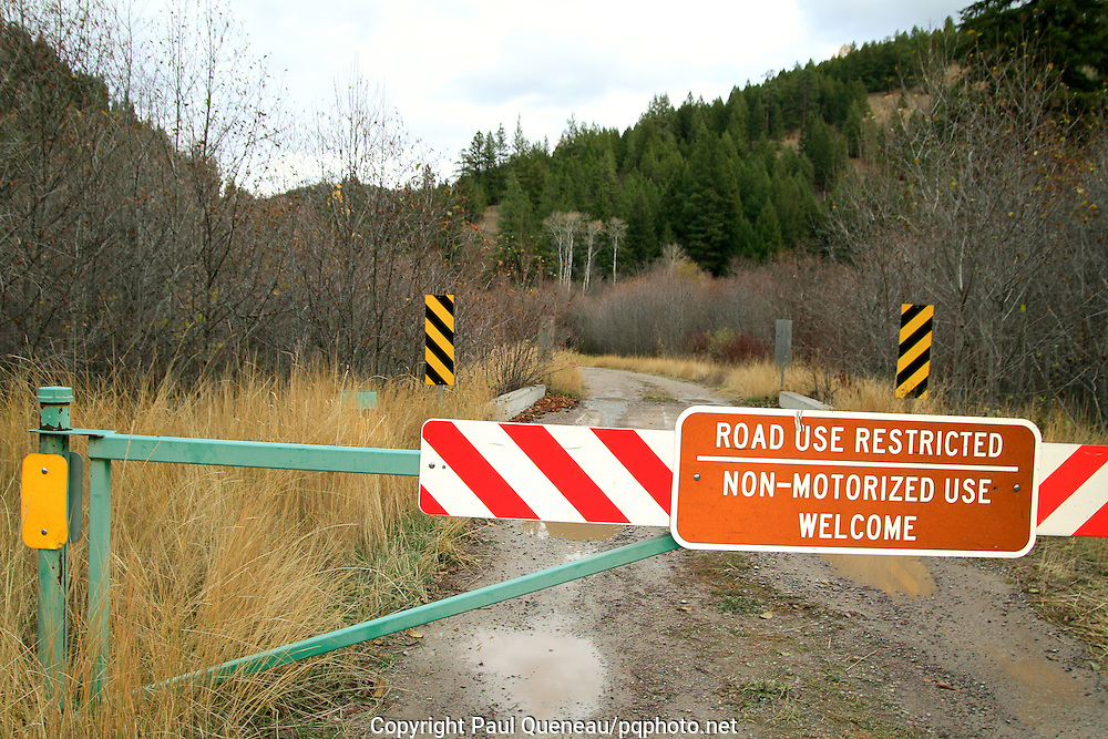 A Forest Service land walk-in or bike-in only area offering opportunities for hunters willing to work their legs to get to deer, elk, grouse and other quarry.