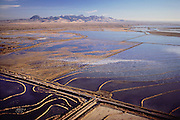 Rice: Aerial view of rice fields near Biggs, California, USA. Butte County, Northern California, USA. 1990.