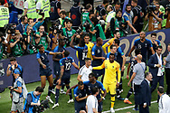 France selection and staff celebrating the win over Croatia after the 2018 FIFA World Cup Russia, final football match between France and Croatia on July 15, 2018 at Luzhniki Stadium in Moscow, Russia - Photo Stanley Gontha / Proshots / ProSportsImages / DPPI