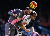 Valencia CF's  Paco Alcacer and Rayo Vallecano's Tito during La Liga match. January 17, 2016. (ALTERPHOTOS/Javier Comos)