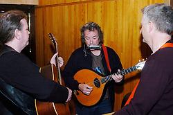 Folk Britannia <br /> at The Barbican, London, Great Britain <br /> rehearsals <br /> 2nd February 2006 <br /> <br /> Billy Bragg <br /> Chris Wood <br /> Maggie Holland <br /> Andy Irvine<br /> Karine Polwar<br /> Dick Gaughan <br /> Martin Carthy <br /> McColls <br /> Robb Johnson <br /> <br /> <br /> Photograph by Elliott Franks
