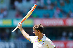 Australia's Mitchell Marsh Marsh acknowledges the crowd during day four of the Ashes Test match at Sydney Cricket Ground.