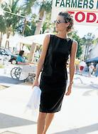 This little black dress went shopping on the local farmer's market. Sylvina shot for fashion mail order catalog Boston Proper.