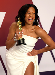Regina King with the best supporting actress Oscar in the press room at the 91st Academy Awards held at the Dolby Theatre in Hollywood, Los Angeles, USA