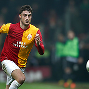 Galatasaray's Albert Riera Ortega On or with the ball (stood full) during their Turkish superleague soccer derby match Galatasaray between Besiktas at the TT Arena at Seyrantepe in Istanbul Turkey on Sunday, 26 February 2012. Photo by TURKPIX