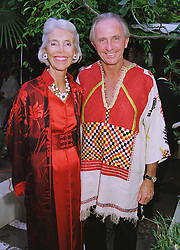 MR & MRS GEOFFREY KENT he is the head of leading travel agents Abercrombie & Kent, at a ball in London on 23rd June 1998.MIS 22