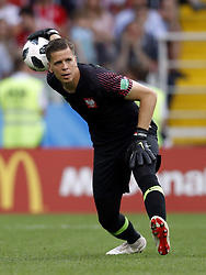 goalkeeper Wojciech Szczesny of Poland during the 2018 FIFA World Cup Russia group H match between Poland and Senegal at the Otkrytiye Arena on June 19, 2018 in Moscow, Russia