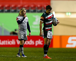 Richard Wigglesworth of Leicester Tigers, on his return after suspension, and Springbok Faf de Klerk of Sale Sharks  - Mandatory by-line: Nick Browning/JMP - 29/01/2021 - RUGBY - Mattioli Woods Welford Road - Leicester, England - Leicester Tigers v Sale Sharks - Gallagher Premiership Rugby