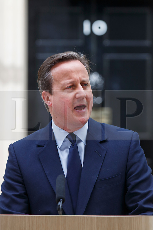 © Licensed to London News Pictures. 21/06/2016. London, UK. Prime Minister DAVID CAMERON makes a statement on the EU referendum in Downing Street, London on Tuesday, 21 June 2016. Photo credit: Tolga Akmen/LNP