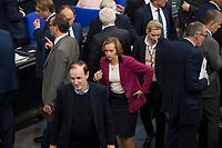 DEU, Deutschland, Germany, Berlin, 29.11.2018: Die AfD-Bundestagsabgeordneten Gottfried Curio, Beatrix von Storch und Alice Weidel nach der Abstimmung zum UN-Migrationspakt bei der Plenarsitzung im Deutschen Bundestag.