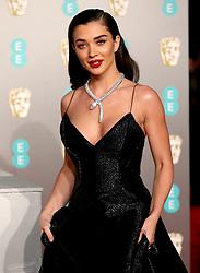 Amy Jackson attending the 72nd British Academy Film Awards held at the Royal Albert Hall, Kensington Gore, Kensington, London.