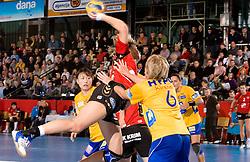 Marina Vergeljuk of Krim at handball match of Round 3 of Champions League between RK Krim Mercator and Hypo Niederosterreich, on November 8, 2009, in Arena Kodeljevo, Ljubljana, Slovenia.  Krim won 35:24. (Photo by Vid Ponikvar / Sportida)