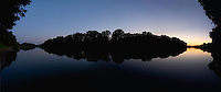 Panoramic landscape of the river Tisza, Hungary