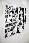 Zapatistas Graffiti on the streets of San Cristóbal