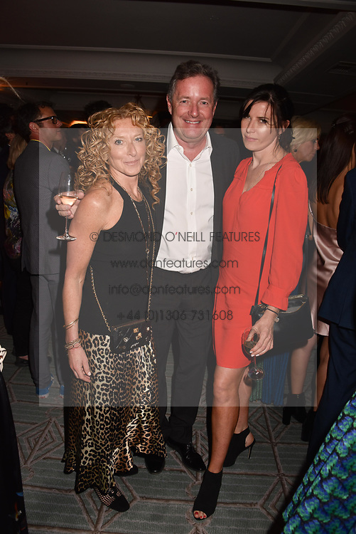 Kelly Hoppen, Piers Morgan and Ronni Ancona at the Fortnum & Mason Food and Drink Awards, Fortnum & Mason Food and Drink Awards, London, England. 10 May 2018.