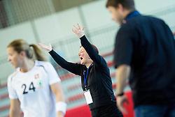 Marta Bon, head coach of Slovenia during handball game between Women National Teams of Slovenia and Switzerland in 2014 Women's European Championship Qualification, on March 30, 2014 in Arena Kodeljevo, Ljubljana, Slovenia. Photo by Vid Ponikvar / Sportida