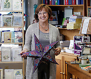 Nancy Racer, owner of Luray Copy Service at her store in Luray, Virginia. Photo/Andrew Shurtleff