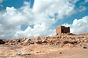 Israel, Massada, the remains of an antiqe building on the hill top