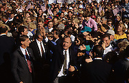 President George W. Bush campaigns on a train trip  in October 1992..Photograph by Dennis Brack bb24