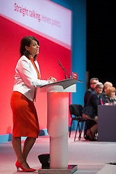 © Licensed to London News Pictures . 27/09/2015 . Brighton , UK . GLORIA DE PIERO speaks at the 2015 Labour Party Conference . Photo credit : Joel Goodman/LNP