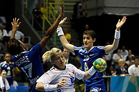 20111218: SAO PAULO, BRAZIL - Player Dembele and Tervel  (FRA) and Alstad (NOR)  at France vs Norway final match of the XX World Handball<br /> PHOTO: CITYFILES