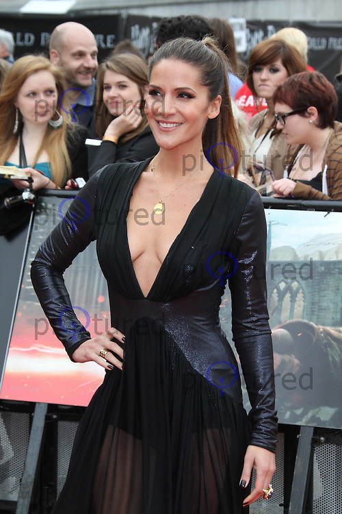 Amanda Byram Harry Potter and the Deathly Hallows part 2 World Premiere, Trafalgar Square, London, UK, 07 July 2011:  Contact: Rich@Piqtured.com +44(0)7941 079620 (Picture by Richard Goldschmidt)
