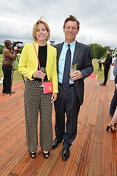 DARCEY BUSSELL and ANGUS FORBES at the Audi Polo Challenge at Coworth Park, Blacknest Road, Ascot, Berkshire on 31st May 2015.