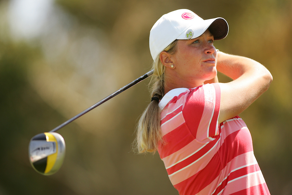 Suzann Pettersen during the first round of the 2008 Kraft-Nabisco Championship at the Dinah Shore Course at Mission Hills Country Club in Rancho Mirage, California on Thursday, April 3, 2008.