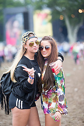 Lauren Monaghan and Georgia McNulty. Sunday, 12th July 2015, day three at T in the Park 2015, at its new home at Strathallan Castle.