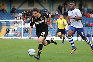 Newport County's Conor Washington makes a great run past Bury's Nathan Cameron. Skybet Football League two match, Bury v Newport county at Gigg Lane in Bury on Saturday 5th Oct 2013. pic by David Richards, Andrew Orchard sports photography,