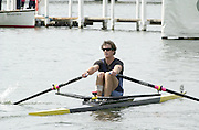 Henley on Thames, United kingdom,   AUS M1X. Antony EDWARDS  (Lindisfarne RC Australia, Tasmania. AUS) competing in the Diamond Challenge Sculls at the  Annual 2002 Henley Royal Regatta, Henley Reach, River Thames, England, [Mandatory Credit: Peter Spurrier/Intersport Images] THUR. 03.07.2002 20020703 Henley Royal Regatta, Henley, Great Britain