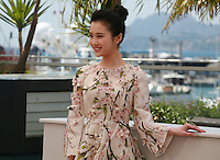 Actress Huiwen Zhang at the photo call for the film Coming Home at the 67th Cannes Film Festival, Tuesday 20th May 2014, Cannes, France.