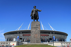 17th June 2017 - FIFA Confederations Cup (Group A) - Russia v New Zealand - A statue of former Leningrad Communist party boss Sergei Kirov stands outside the Zenit Arena Stadium in Saint Petersburg - Photo: Simon Stacpoole / Offside.