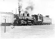 #453 switching boxcar in Durango yard.<br /> D&RGW  Durango, CO  Taken by Springer, Fred M. - 3/1953