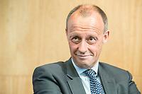 """18 JUN 2018, BERLIN/GERMANY:<br /> Friedrich Merz, Vorsitzender des Aufsichtsrates BlackRock Asset Management Deutschland AG, Veranstaltung Wirtschaftsforum der SPD: """"Finanzplatz Deutschland 2030 - Vision, Strategie, Massnahmen!"""", Haus der Commerzbank<br /> IMAGE: 20180618-01-156"""