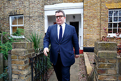 © Licensed to London News Pictures. 02/12/2015. London, UK. Deputy Leader of the Labour Party TOM WATSON leaving his London home to attend the House of Commons discussion and vote on the UK air strikes against ISIS in Syria on Wednesday, 2 December 2015. Photo credit: Tolga Akmen/LNP