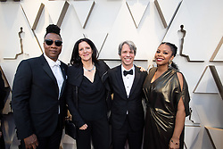 Marshall Curry (3rd from left), Oscar® nominee, and guest arrive on the red carpet of The 91st Oscars® at the Dolby® Theatre in Hollywood, CA on Sunday, February 24, 2019.