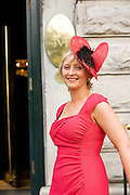 Assumpta Shannon from Loughrea at Hotel Meyrick in Eyre Sq. Galway for their best dressed Lady Competition during Galway's Race week . Photo:Andrew Downes..
