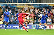 Watford Midfielder Abdoulaye Doucoure (16) shoots during the Pre-Season Friendly match between AFC Wimbledon and Watford at the Cherry Red Records Stadium, Kingston, England on 15 July 2017. Photo by Jon Bromley.