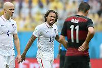 Fotball<br /> Tyskland v USA<br /> 26.06.2014<br /> VM 2014<br /> Foto: Witters/Digitalsport<br /> NORWAY ONLY<br /> <br /> Jermaine Jones (USA)<br /> Fussball, FIFA WM 2014 in Brasilien, Vorrunde, USA - Deutschland