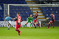 18 Stephen Kelly fires but goes wideduring the Scottish Premiership match between Ross County FC and St Mirren FC at the Global Energy Stadium, Dingwall, Scotland on 26 December 2020