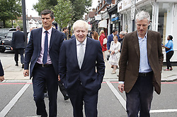 © Licensed to London News Pictures. 25/06/2019. London, UK. Conservative leadership candidate Boris Johnson campaigns in south west London. Mr Johnson is campaigning in various locations in the south east of England today. Photo credit: Peter Macdiarmid/LNP