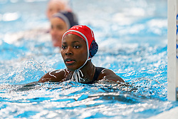 Ashleigh Johnson #13 of USA in action during the friendly match Netherlands vs USA on February 19, 2020 in Amerena Amersfoort.