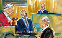 ©PRISCILLA COLEMAN (ITN ARTIST).PIC SHOWS: ARTIST IMPRESSION OF THE HEAD OF TRINTITY COLLEGE, MICHAEL BELOFF Q.C GIVING EVIDENCE IN THE ARCHER TRIAL TODAY 28.06.01