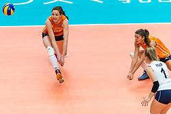 19-10-2018 JPN: Semi Final World Championship Volleyball Women day 20, Yokohama<br /> Serbia - Netherlands / Lonneke Sloetjes #10 of Netherlands, Anne Buijs #11 of Netherlands