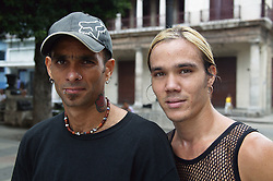 Young men on Havana street,