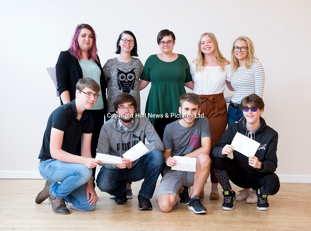 16 August  2018: Students from Louth Academy Sixth Form celebrate their A level results.<br /> Picture: Sean Spencer/Hull News & Pictures Ltd<br /> 01482 210267/07976 433960<br /> www.hullnews.co.uk         sean@hullnews.co.uk
