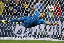 Colombia goalkeeper David Ospina during the 2018 FIFA World Cup Russia round of 16 match between Columbia and England at the Spartak stadium  on July 03, 2018 in Moscow, Russia
