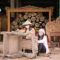 Vietnam | Craftvillage | Dong Ky | Wood furnitures | Hanoi area